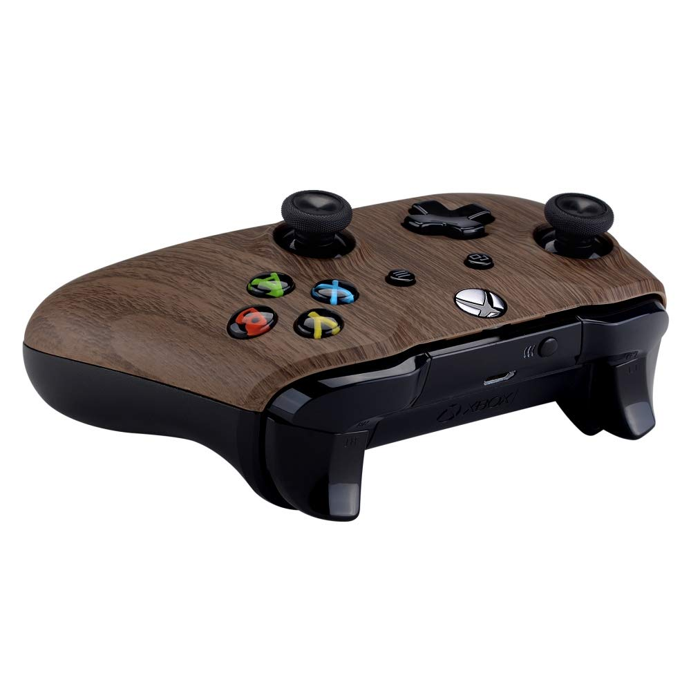 eXtremeRate Wood Grain Patterned Front Housing Shell