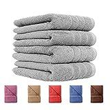 4er Pack Handtücher Set 50x100 cm 100% Baumwolle Qualität 600 g/m² in 6 modernen Farben Royal