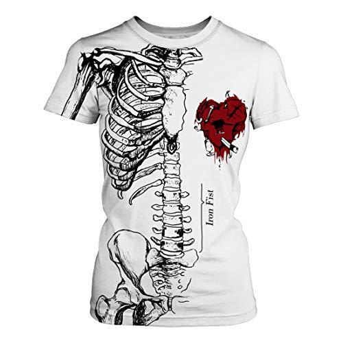 mit Halloween Skeleton 3D Digitaldruck Modekleidung Bequem & Atmungsaktiv,White,L ()