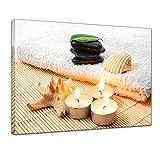 Bilderdepot24 Kunstdruck - Zen Steine VII - Bild auf Leinwand - 70 x 50 cm - Leinwandbilder - Bilder als Leinwanddruck - Wandbild Geist & Seele - Asien - Wellness