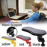 Handschulterschutz Armlehnenpolster Ergonomische Rückenlehne Schreibtisch anbringbar Computertisch Armstütze Mauspads Armlehnen Stuhl Verlängerung für Tisch Schwarz
