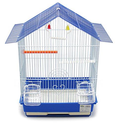 BPS Jaula Pájaros Metal con Comedero Bebedero Columpio Saltador Cubeta Color envia al Azar 46 x 28 x 34.5 cm BPS-1251