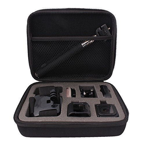 Holaca EVA Storage Carry Bag case/copriobiettivo/subacquea/luce flash LED ad anello per GoPro Hero 4sessione Hero 5sessione eroe sessione