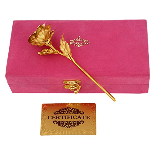 Jewel Fuel Valentine Special Rose In 24k Gold (25cm) With Exclusive Velvet Gift Box  available at amazon for Rs.1024