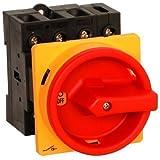 Hauptschalter 32A 4-polig Einbauversion, Frontbefestigung, Lasttrennschalter, Not-Aus-Schalter, JS4P32A-E