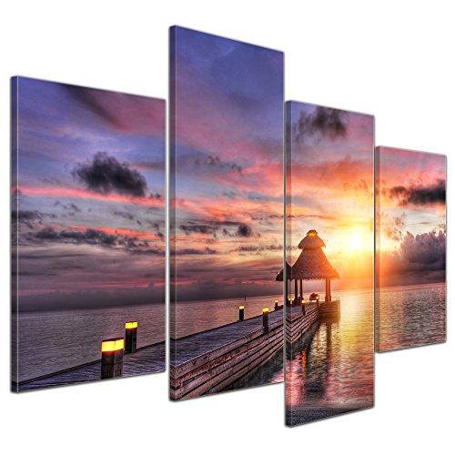 bilderdepot24-wall-art-canvas-picture-sunset-over-maledives-sonnenuntergang-uber-den-malediven-4724-