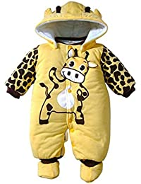 Minetom Bebé Chicas Chicos Unisexo Monos Calentar Mameluco Encapuchado Trajes Para Niños