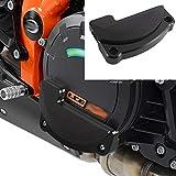 XX eCommerce Motorrad Recht Motor Stator Abdeckung Schutz Fall Schieberegler Bewachen Beschützer für KTM 1290 Super Duke R GT RC8 (Schwarz)