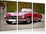 Zeitloser Mercedes Oldtimer 3-Teiler Leinwandbild 120x80 Bild auf Leinwand, XXL riesige Bilder fertig gerahmt mit Keilrahmen, Kunstdruck auf Wandbild mit Rahmen, gänstiger als Gemälde oder Ölbild, kein Poster oder Plakat