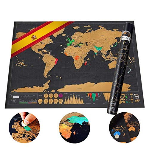 Mini Mapa del Mundo para Rascar
