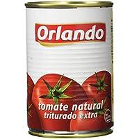 Orlando - Tomate Natural Triturado, Lata 400 g - , Pack de 6