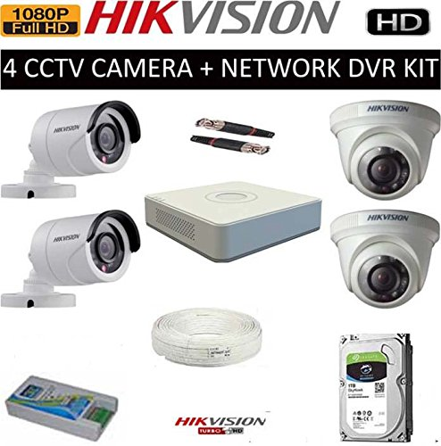cb967d0a65c 43% OFF on HIKVISION FULL HD 2MP CAMERAS COMBO KIT 4CH HD DVR+ 2 BULLET