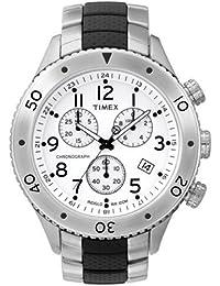 Timex - T2M707 PF - Timex T-Series - Quartz Chronographe - Montre Homme - Bracelet acier et résine