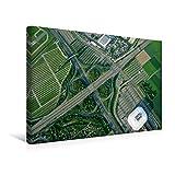 Premium Textil-Leinwand 45 cm x 30 cm quer, SAP Arena und Fertighauscenter, dazwischen die A 656 | Wandbild, Bild auf Keilrahmen, Fertigbild auf echter Leinwand, Leinwanddruck (CALVENDO Orte)