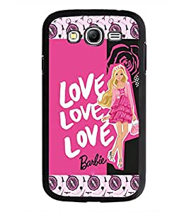 PrintDhaba Love Barbie D-3072 Back Case Cover for SAMSUNG GALAXY GRAND I9082 (Multi-Coloured)