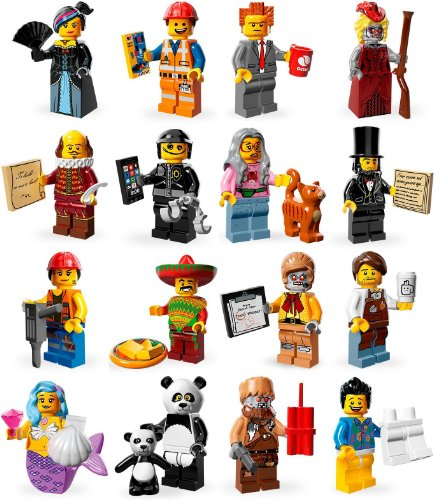 Lego 71004 Minifiguren Serie Lego Movie - Komplettsatz - alle 16 Figuren  (Lego Movie Emmet)
