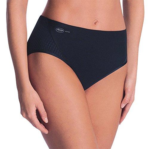 Anita Active Damen Sport Taillenslip+ Sportunterhose, schwarz 001, 42 -