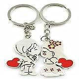 Bigboba 1coppia romantica coppia portachiavi bambine, modello portachiavi borsetta borsa auto accessori per telefono cellulare