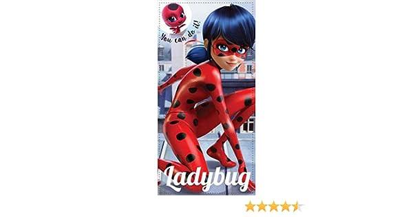 Serviette Miraculous Ladybug Serviette de Plage ou de Bain 70//140 cm Exclu 2019