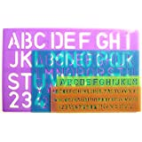 Lettering Stencil Set Letters Alphabet Stencils Craft Number Lettering Guide x 4 by Tallon