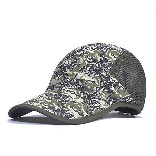Casquette et chapeau femme printemps ¨¦t¨¦ mar¨¦e cor¨¦en Ombre ext¨¦rieure respirante pac pac solaire chapeaux bec de code sont bleu et gris Army green