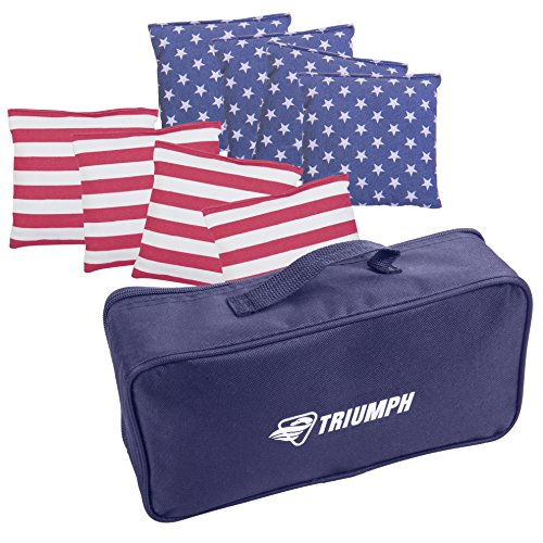 Triumph USA 8Stück Patriotische Carry Tasche Sitzsäcke, multicolor, One size