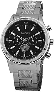August Steiner Men's Multifunction Swiss Fashion Watch - Dial with Day of Week, Date, and 24 Hour Subdial