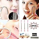 3 Pack Epilator Stick Face Epi Care Hair Remover Spring Threading Tool Removal Sopracciglio Rasoio/Trimmer, Strumenti di filettatura