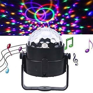 POSSBAY Discokugel LED Disco Beleuchtung Bunt Musik Kugel Musiksteuerung mit USB Kabel für Auto Car DJ KTV Disco Bars Clubs Weihnachten Hochzeiten Party …
