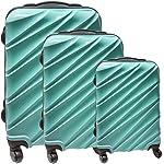 Familien Reisetrolley-Set - Bestehend aus 3 Reisetrolleys: 28, 24 und 20 Zoll - Teleskopgriff - Verschiedenes Design: von klassisch bis cool - In vielen Farben (Türkis)