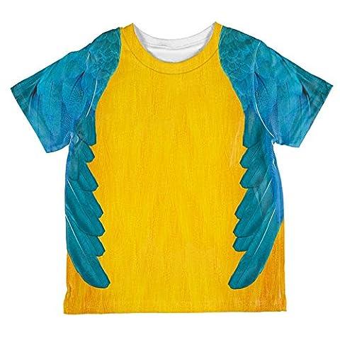 Halloween-blau & gelb Papagei Ara Kostüm aller Kleinkind T Shirt Multi 2 t (Kind Blau-ara-kostüm)