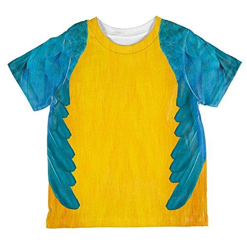 Halloween-blau & gelb Papagei Ara Kostüm aller Kleinkind T Shirt Multi 2 (Ara Kind Blau Kostüm)