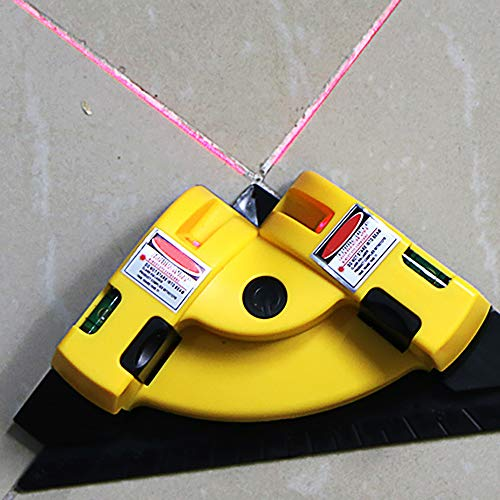 ABEDOE 90 Grad Laser Level Tool, Vertikal Horizontal Laser Level Line, Projektion Rechtwinklig 90 Grad Alignment Layout Tool Messwerkzeuge mit zwei Saugnäpfen