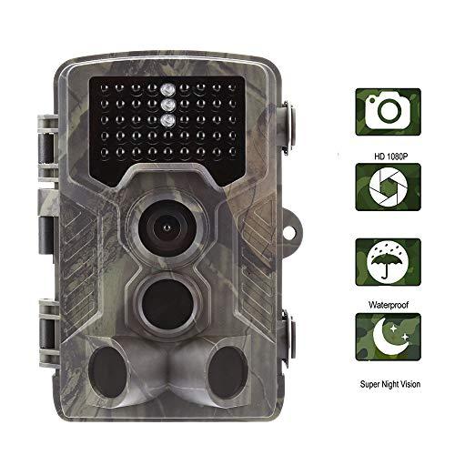 ZYG.GG Wildlife-Kamera, Trail 1080P 16MP Spielkamera, Bewegung aktiviert, 42Pcs IR LEDs Nachtsichtgerät, mit 120 ° Weitwinkel, für Outdoor und Home Security