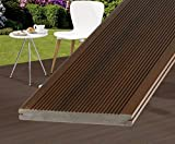 WPC Terrassendielen braun 300cm, DreamDeck Platinum Vollprofil 2x19,5cm - Zubehör für WPC Dielen Boden WPC Terrassenböden Boden für Terasse, Kunststoffboden Kunststoffböden hochwertige Böden für Terrasse und Garten Terassendielen Terassenbelag