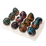 12 Piezas Juegos de Incubar Huevos de Dinosaurio Creciente Dino Mundo Jurásico Niños - Negro