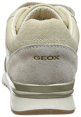 Geox J Maisie e, Scarpe da Ginnastica Basse Bambina Beige (Beigec5000)
