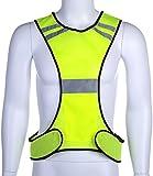 Fastar High Visibility LED lighting Sets Safety Vest Reflective Running Vest Adjustable Fits Men and Women