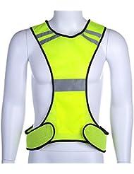 Fastar Ensembles d'éclairage LED haute visibilité Gilet de sécurité réfléchissant Débardeur de course à pied réglable pour homme et femme