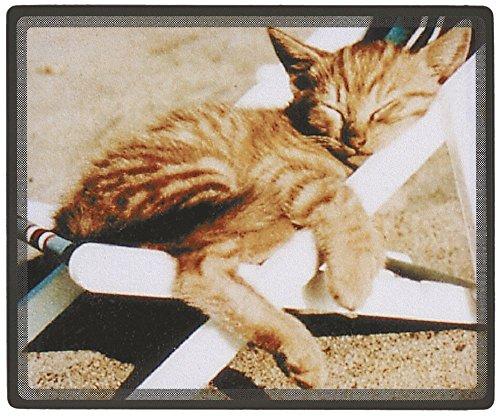 Preisvergleich Produktbild Mousepad Mauspad mit Motiv - Katze schlafend im Liegestuhl - 22601 - Gr. ca. 24 x 20 cm