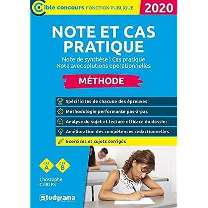 Note et cas pratique : Note de synthèse, cas pratique, note avec solutions opérationnelles