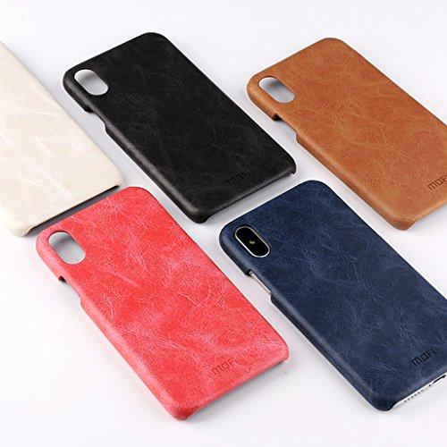 KaiTelin Apple iPhone 7 Case - Ultra Dünne Hartschale Schutzhülle Back Cover Case für Apple iPhone 7 - Braun Weiß