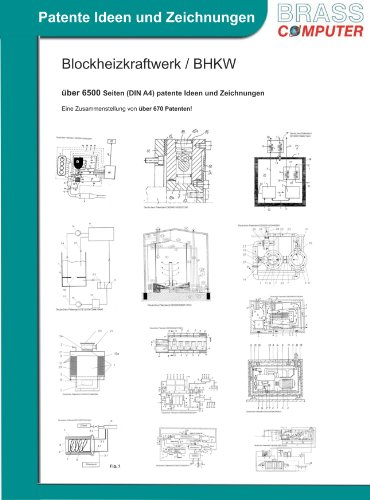 Blockheizkraftwerk / BHKW, über 6900 Seiten (DIN A4) patente Ideen und Zeichnungen