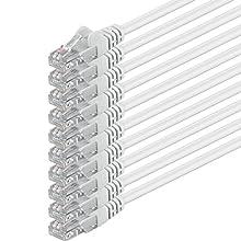 1aTTack 5.0m 2x RJ-45 Cat6 UTP M/M 5m Cat6 U/UTP (UTP) White networking cable - networking cables (5 m, Cat6, U/UTP (UTP), RJ-45, RJ-45, White)