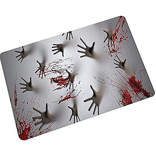 Person Drei Kostüm Kreative - acccc Horror Teppich Halloween Home Kreative Print Fußmatte Wasser Absorbent 4 45 * 70cm @ 45 * 75cm_3
