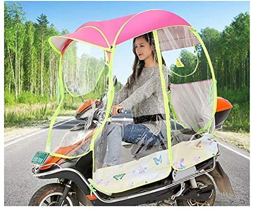 GLJY Ombrello Universale per Moto motorino Ombrello Antipioggia per Motocicletta, Ombrellone motorizzato per Moto Ombrellone per Mobilità e parapioggia Impermeabile,Ros