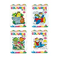 GIZZY® 4 Books Set of Coloring Book For Kids Colour Pad for Child Magic Colours Preschool Level Art Toyby