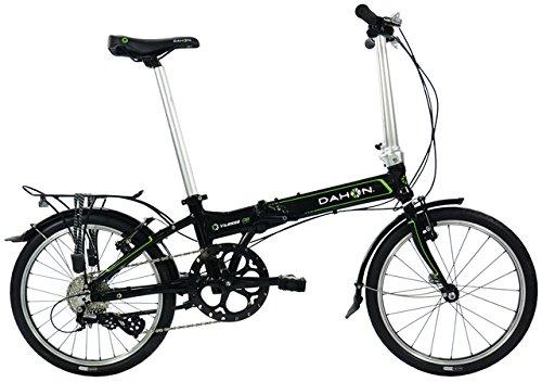 Dahon Vitesse D8 Vélo Pliable Mixte Adulte, Obsidian Noir, Taille 20