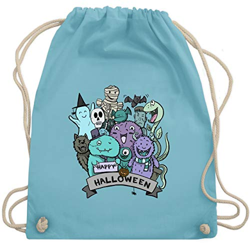 Halloween - Happy Halloween Monster - Unisize - Hellblau - WM110 - Turnbeutel & Gym Bag