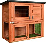 FeelGoodUK RHM + GREEN COVER Rabbit Hutch and Cover